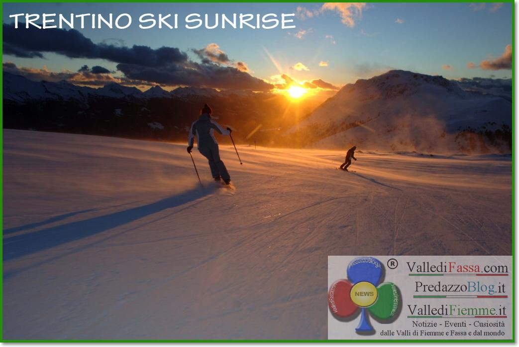 trentino ski sunrise LAlba sul Cermis di Trentino Ski Sunrise, il servizio TG1