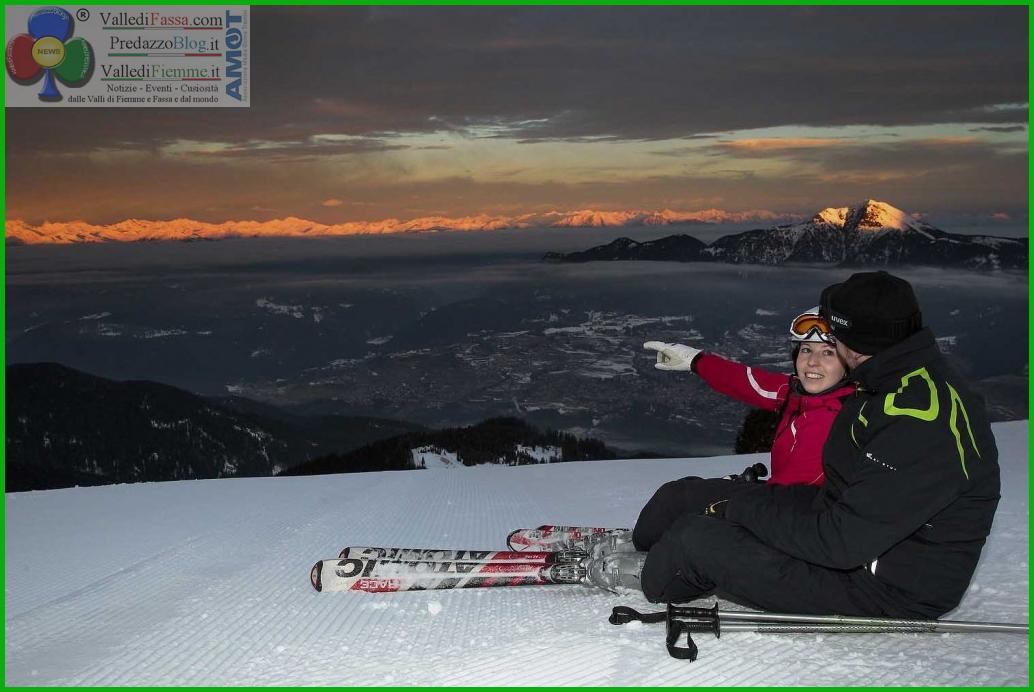 Ski Center Latemar sciare alba fiemme Prima sh...ia! La prima sciata alle luci dellalba   Ski Center Latemar