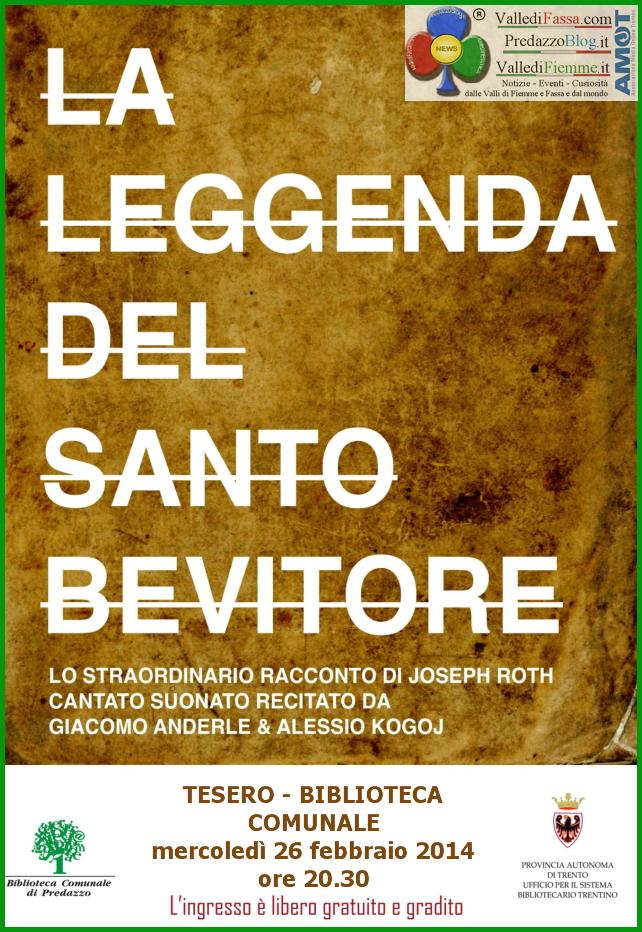 leggenda del santo bevitore tesero fiemme Tesero, la Leggenda del Santo Bevitore