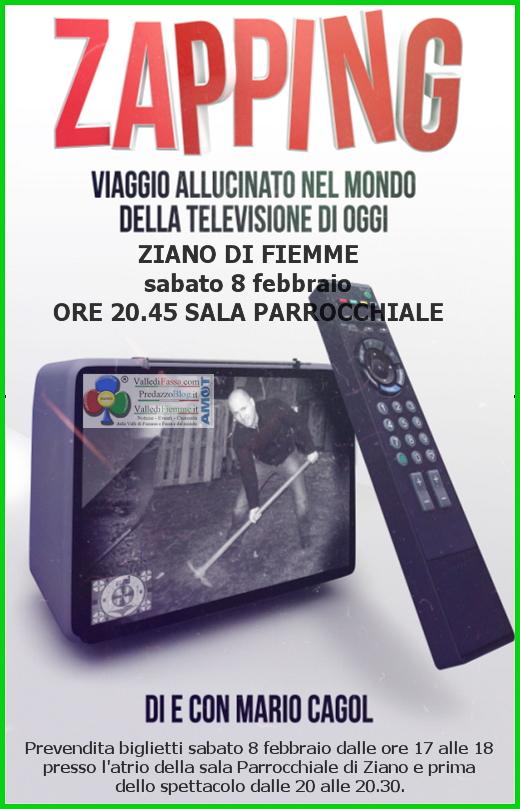 "zapping mario cagol ziano di fiemme ""ZAPPING"" Spettacolo a TV spenta con Mario Cagol   Ziano di Fiemme"
