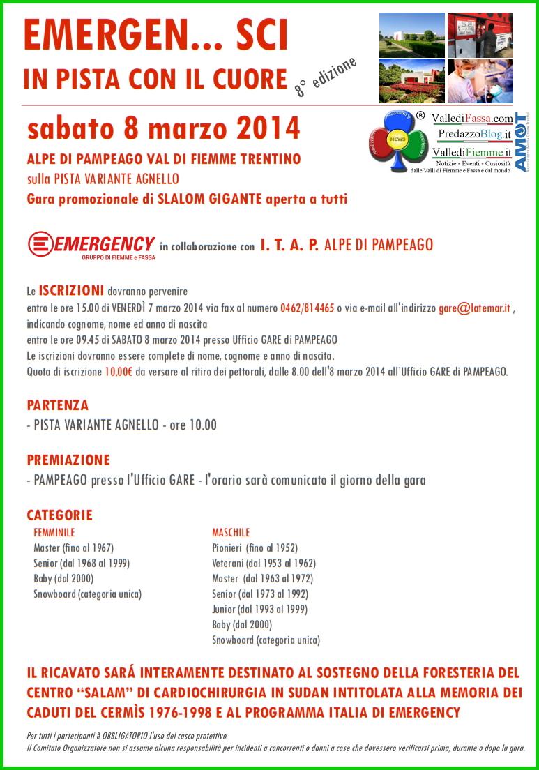 emergensci 2014 fiemme Emergency, due nuovi appuntamenti in Valle di Fiemme