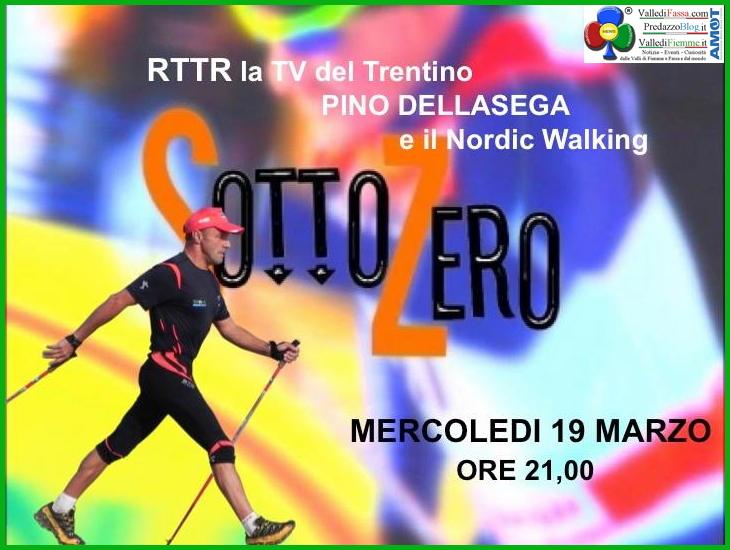 pino dellasega sottozero Pino Dellasega e il Nordic Walking in TV a SottoZero
