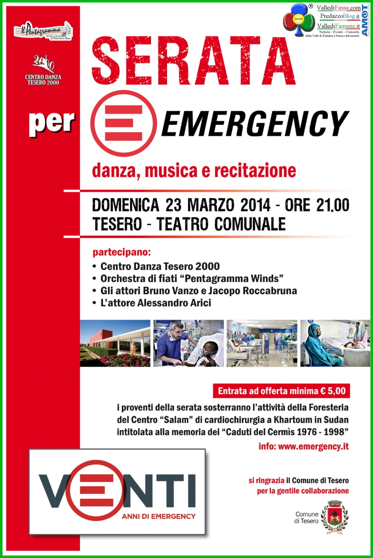 serata emergency tesero fiemme Il video live della serata per Emergency di Tesero