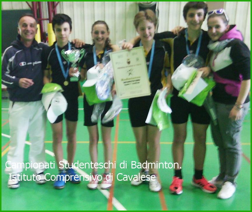 Campionati Studenteschi di Badminton. Studenti dellIstituto Comprensivo di Cavalese, Campioni Provinciali di Badminton