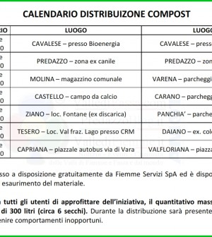 calendario distribuzione compost fiemme 2014