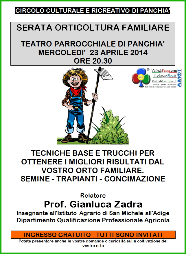 orticoltura familiare panchia fiemme Serata Orticoltura Familiare a Panchià