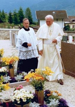 stava papa 30° anniversario della catastrofe di Stava