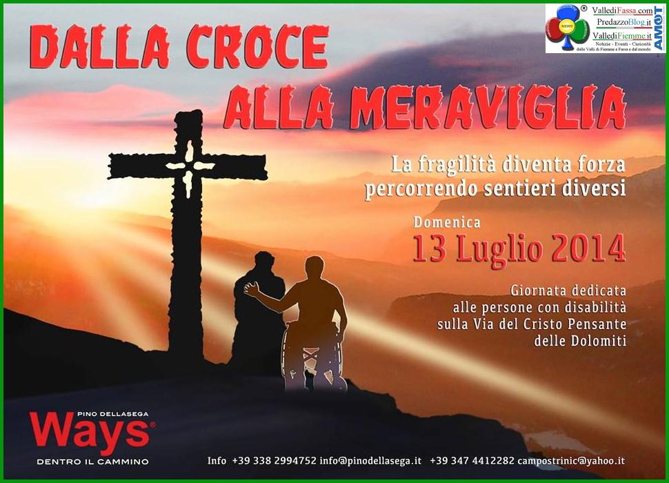 cristo pensante dalla croce alla meraviglia 2014 Bellamonte, Il Cristo Pensante delle Dolomiti con Pino Dellasega