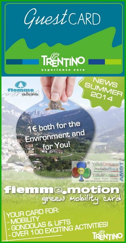 guest card trentino 2014 Guest Card Trentino 2014: Fiemme: CIAK si gira ... con un euro!