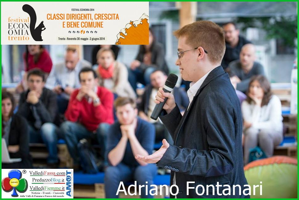 adriano fontanari ziano fiemme Adriano Fontanari di Ziano premiato al Concorso EconoMia di Trento