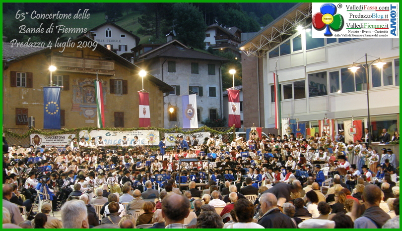 concertone bande fiemme predazzo 72° Concertone delle Bande della Magnifica Comunità di Fiemme