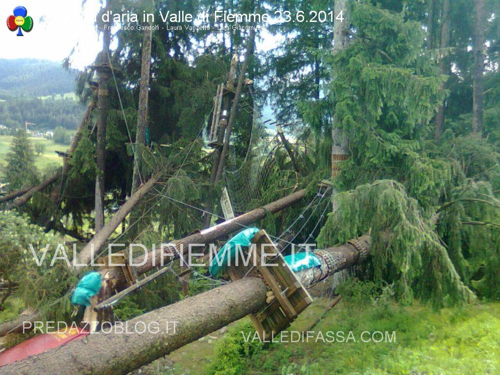 tromba daria 23.6.2014 in valle di fiemme ziano masi4 Trombe daria in Valle di Fiemme, danni a Ziano e Masi di Cavalese