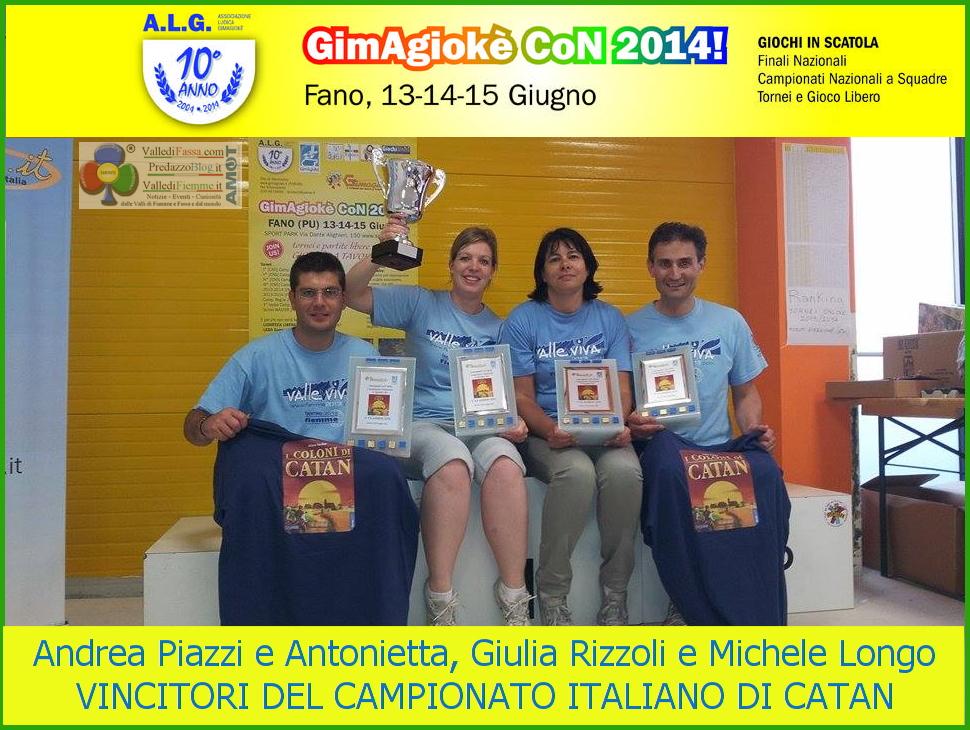 vincitori torneo nazionale i coloni di catan 2014 fiemme  Fiemme sugli scudi al campionato italiano a squadre de I coloni di Catan