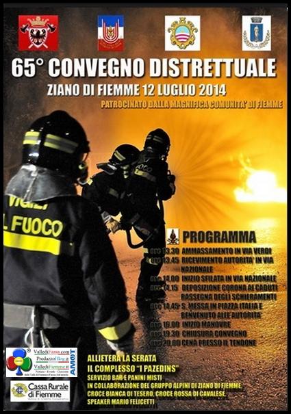 65 convegno distrettuale fiemme ziano 12.7.2014 65° Convegno Distrettuale dei Vigili del Fuoco di Fiemme a Ziano