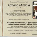 Mimiola Adriano ziano 150x150 Tesero, necrologio Zanon Valeria Rosetta