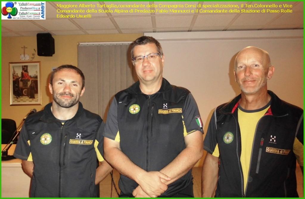 comandanti guardia di finanza predazzo rolle 1024x669 Comportamento in pista e primo soccorso in montagna