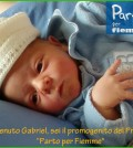 gabriel primo nato parto per fiemme