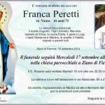 Peretti Franca 150x150 Nordic Ski Fiemme piange Carlo Bologna