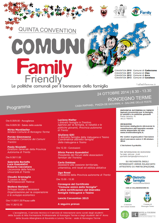 convention comuni La famiglia è protagonista alla 5^ convention dei comuni