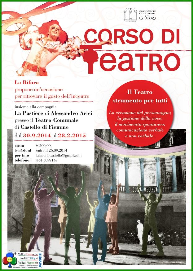corso di teatro castello fiemme Corso di Teatro con Alessandro Arici a Castello di Fiemme