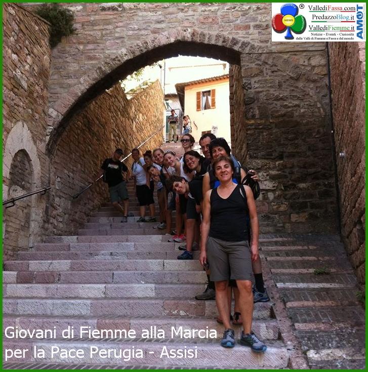perugia assisi giovani fiemme 1 I giovani di Fiemme alla Marcia della Pace Perugia Assisi