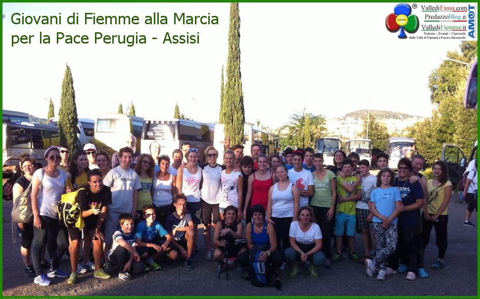 perugia assisi giovani fiemme I giovani di Fiemme alla Marcia della Pace Perugia Assisi
