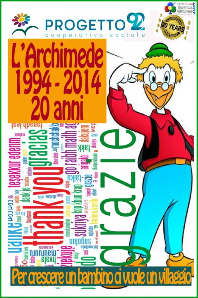 """archimede 20 anni fiemme 2014 681x1024 Il Centro """"L'Archimede"""" festeggia vent'anni di attività in Fiemme"""