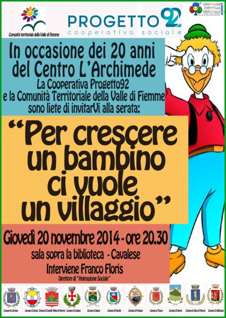"""archimede fiemme 2014 727x1024 Il Centro """"L'Archimede"""" festeggia vent'anni di attività in Fiemme"""