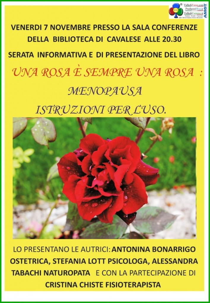 rosa sempre rosa 708x1024 Una Rosa è sempre una Rosa presentazione libro sulla menopausa