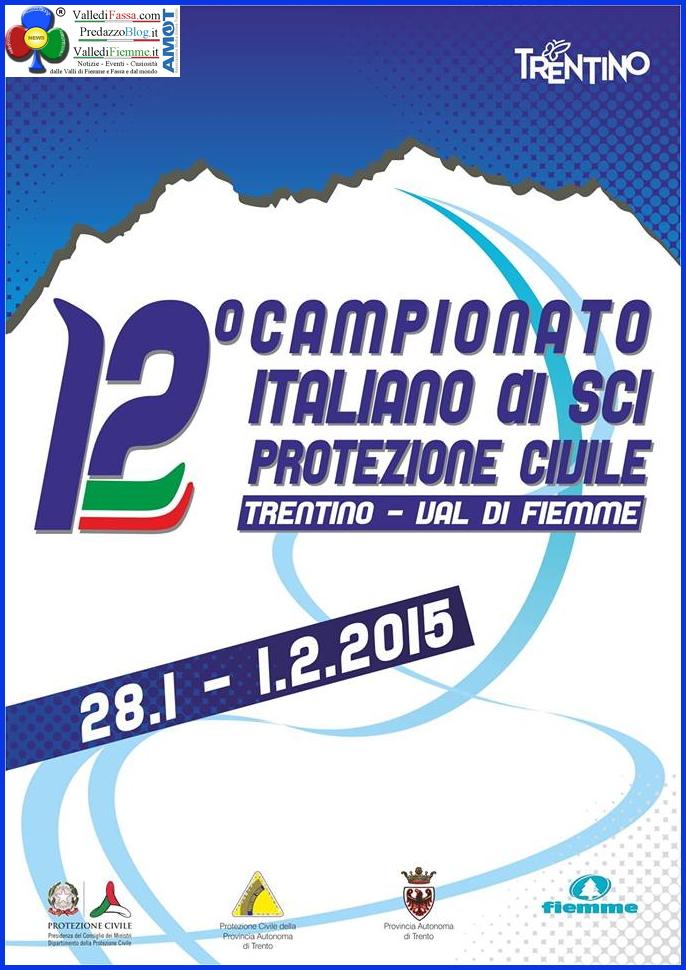 12 campionato sci protezione civile fiemme Fiemme, 12° Campionato Italiano di Sci per la Protezione Civile 2015
