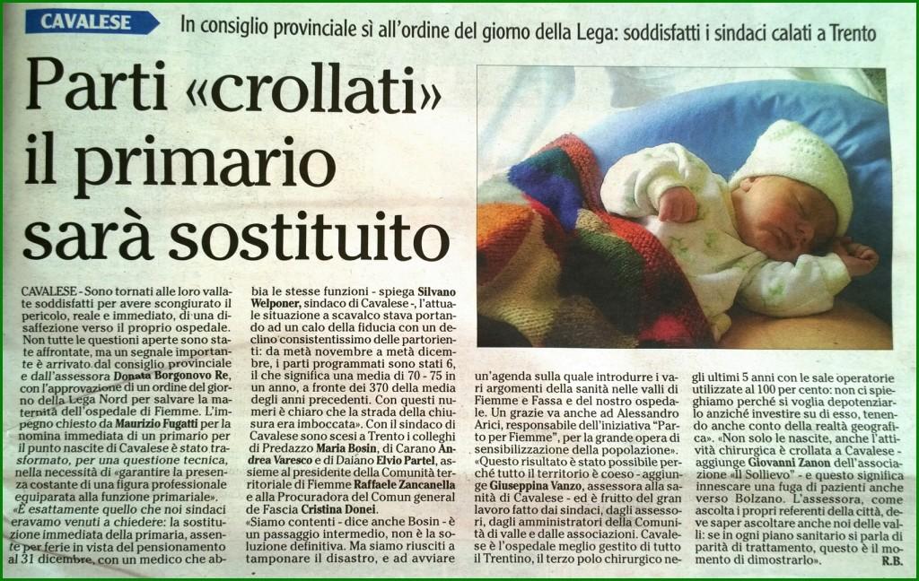 Adige 19 12 2014 Il Primario sara sostituito 1024x648 Parto per Fiemme: Abbiamo, di fatto, un vero, Esperto Primario!!