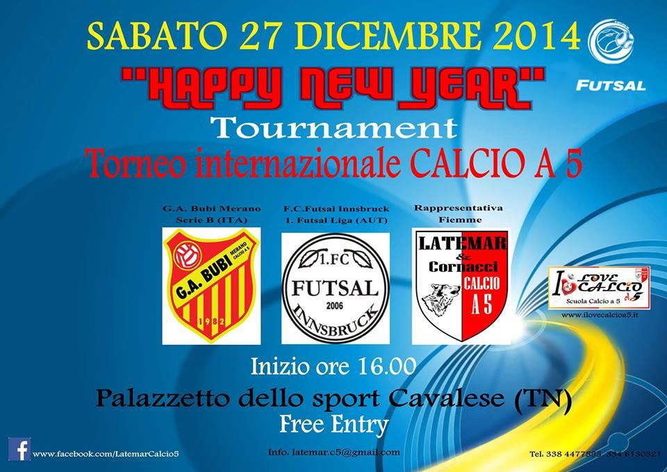 Triangolare Triangolare Happy New Year  Calcio a 5