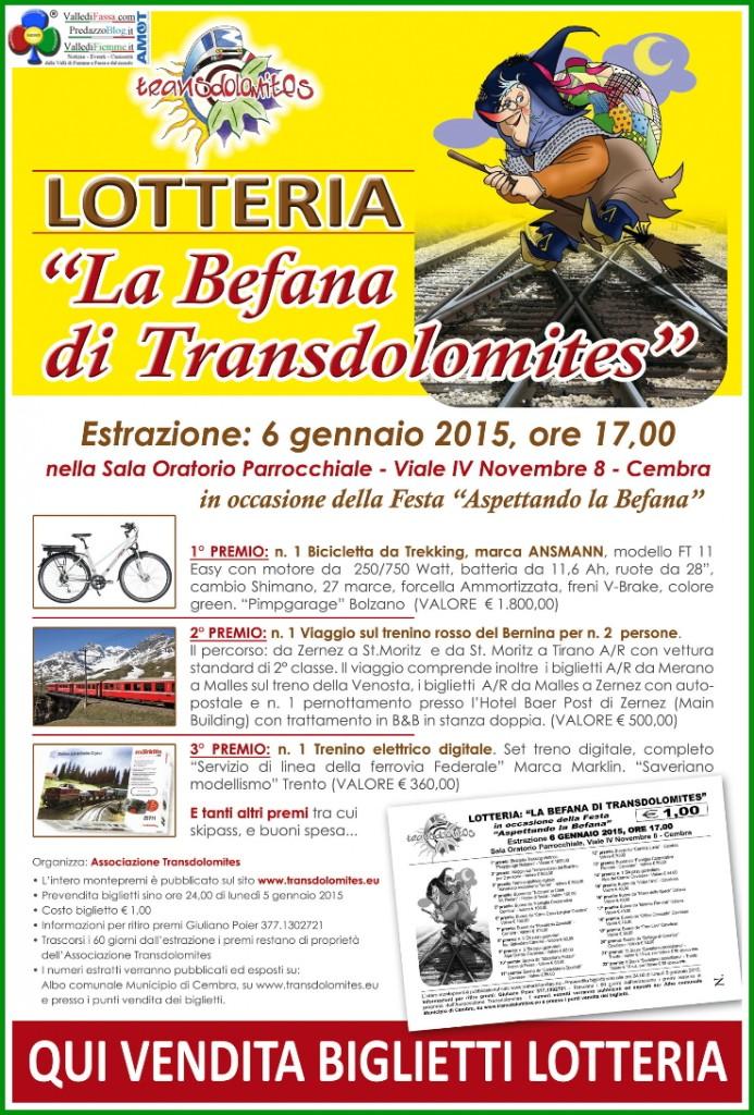 lotteria befana transdolomites fiemme fassa cembra 693x1024  La Befana di Transodolomites con un treno di regali