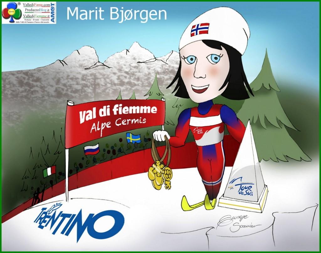 Marit Bjørgen 1024x809 Tour de Ski 2015: Martin Sundby e Marit Bjoergen trionfano in Val di Fiemme