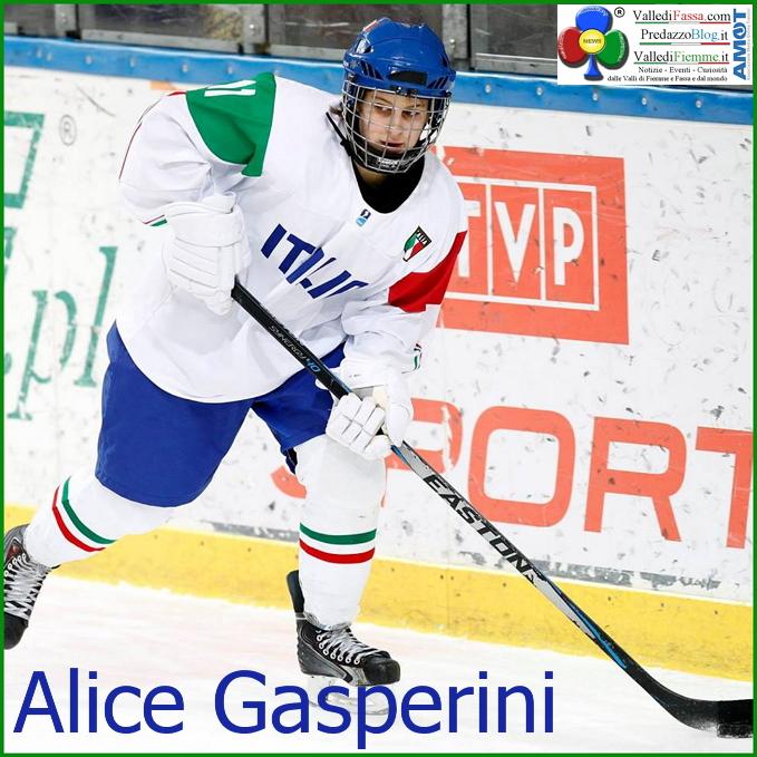 alice gasperini cavalese Hockey su ghiaccio, Alice Gasperini segna a Cracovia