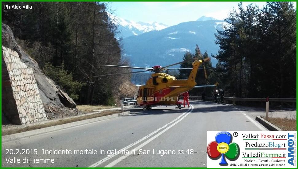 elisoccorso fiemme incidente galleria san lugano 1 Tragico incidente in galleria, muore Luigi Corradino di Egna
