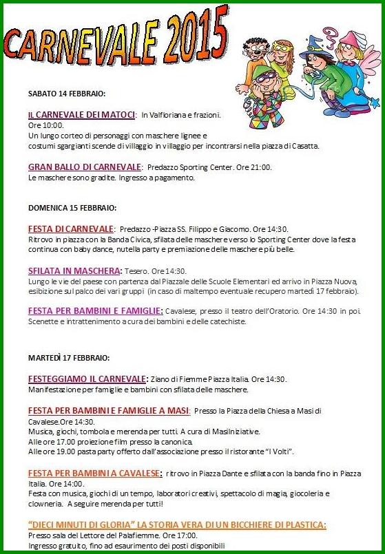 programma carnevale fiemme 2015 Calendario Carnevale Fiemme 2015