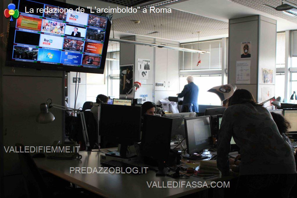 La redazione di Repubblica La redazione de Larcimboldo a Roma