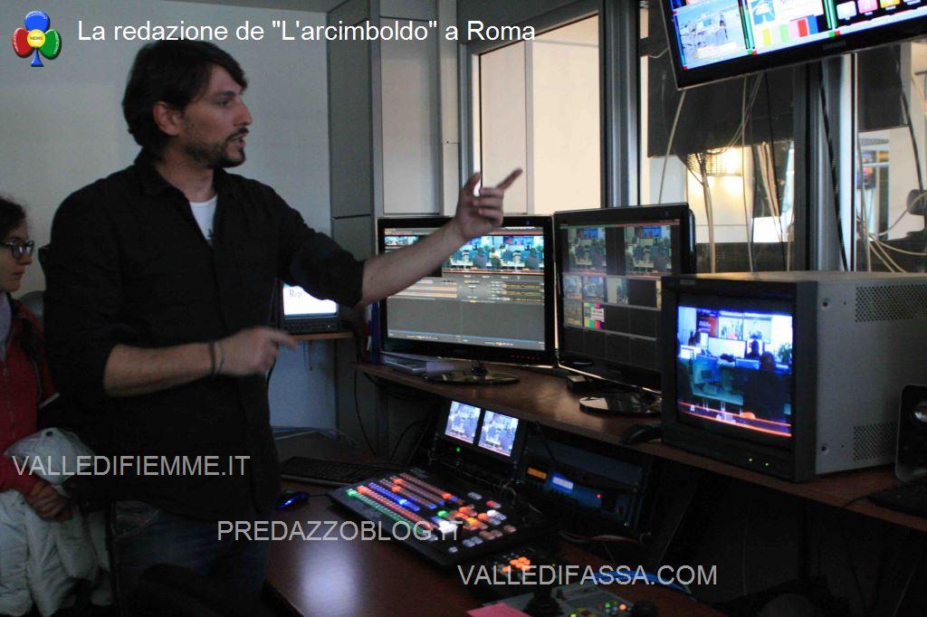 La regia di RepTv La redazione de Larcimboldo a Roma
