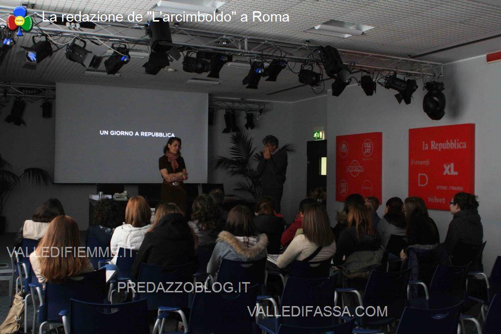 Lincontro iniziale della visita a Repubblica La redazione de Larcimboldo a Roma