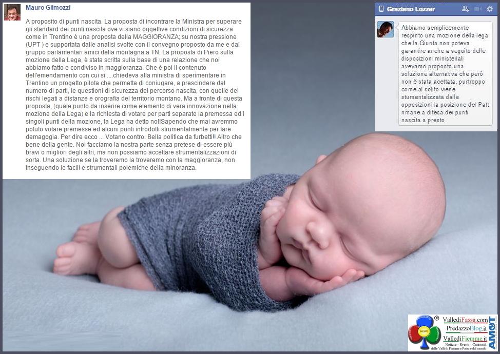 punti nascite gilmozzi e lozzer Punti nascita, Si alle soluzioni, No alle strumentalizzazioni