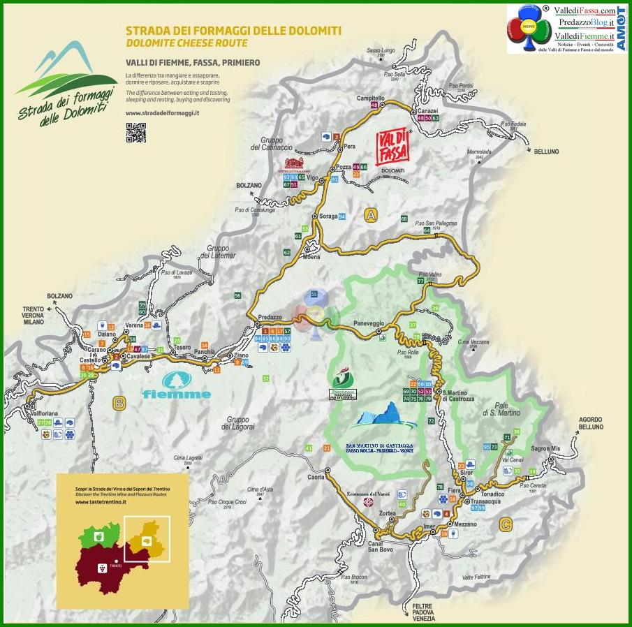 strada dei formaggi dolomiti cartina Assemblea annuale soci Strada dei formaggi delle Dolomiti