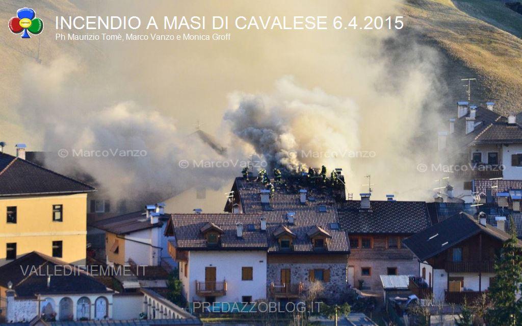 incendio masi di cavalese 6.4.15 fiemme1 Tetto in fiamme a Masi di Cavalese