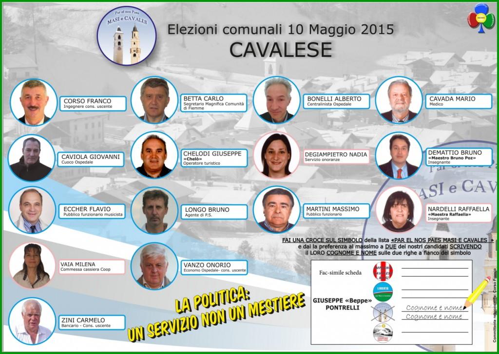lista pontrelli cavalese 1024x726 Cavalese, le cinque liste di Beppe Pontrelli