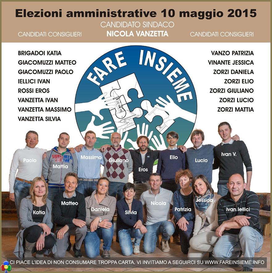 fare insieme lista nicola vanzetta ziano Ziano, Fare Insieme la lista del candidato sindaco Nicola Vanzetta