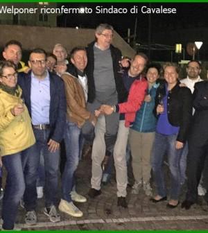 silvano welponer sindaco festeggia il risultato elettorale