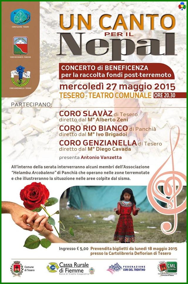 un canto per il nepal Un canto per il Nepal concerto solidale a Tesero