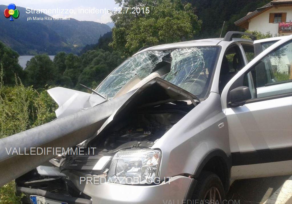 incidente stramentizzo fiemme1 Auto trafitta, salvi per miracolo a Stramentizzo