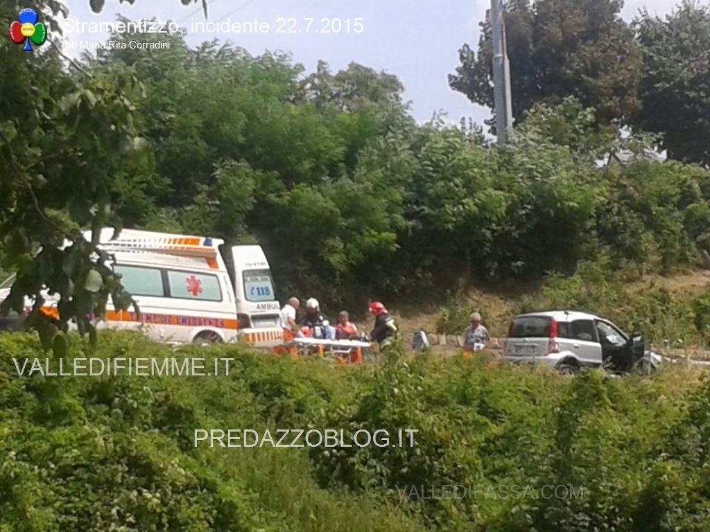 incidente stramentizzo fiemme2 Auto trafitta, salvi per miracolo a Stramentizzo