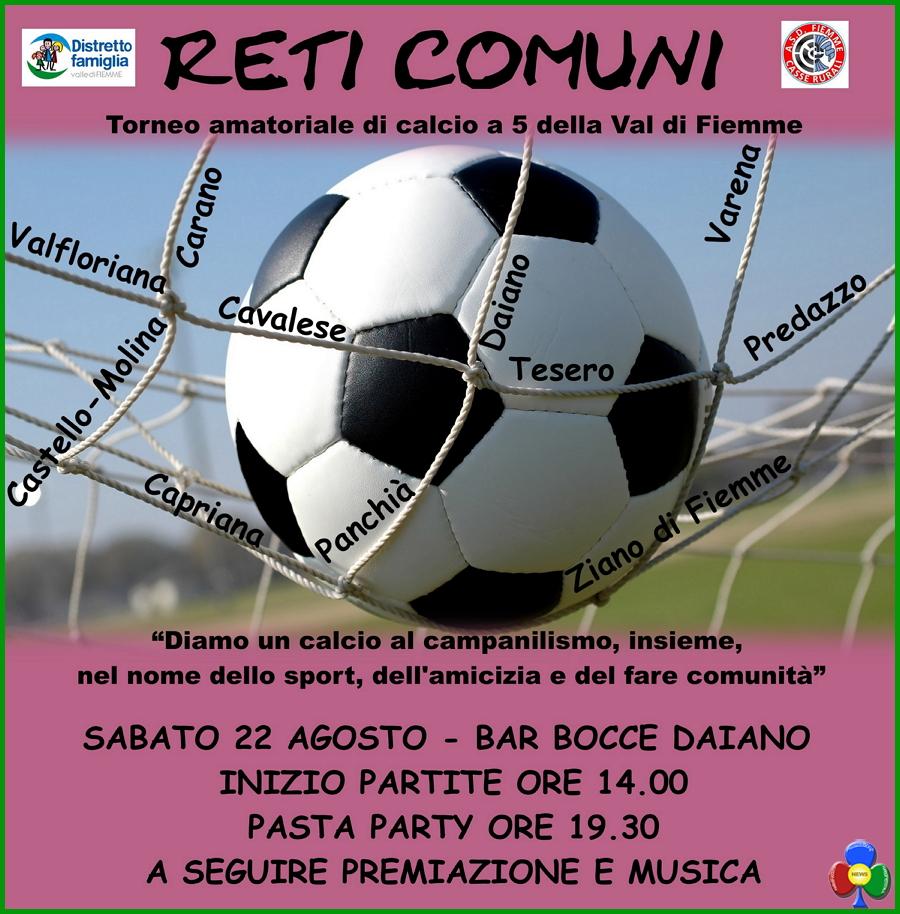 reti comuni 2015 fiemme Torneo amatoriale di calcio a 5 della Val di Fiemme